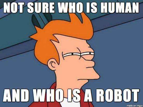Don't know, who is robot